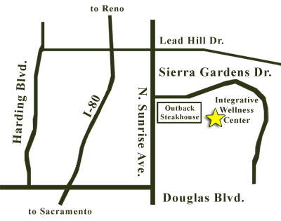 map to Integrative Wellness Center